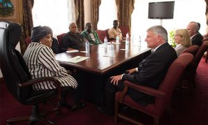Franklin Graham met with Liberian President Ellen Johnson Sirleaf during his trip.