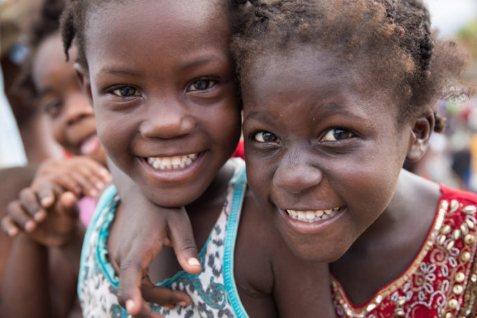 The hurricane did not wash away the smiles of Haitian children.