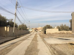 Entering Bartella, which has been deserted since ISIS occupied it within a matter of hours in August 2014.