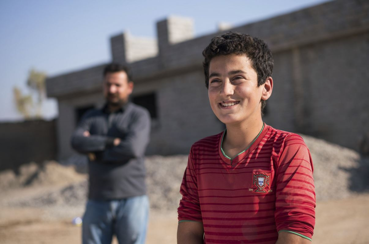 Ahmedwantstobeadoctorwhenhegrowsup. He wants to serve people and his nation. His father wants him to learn and grow up in peace. His school and village were destroyed by ISIS.