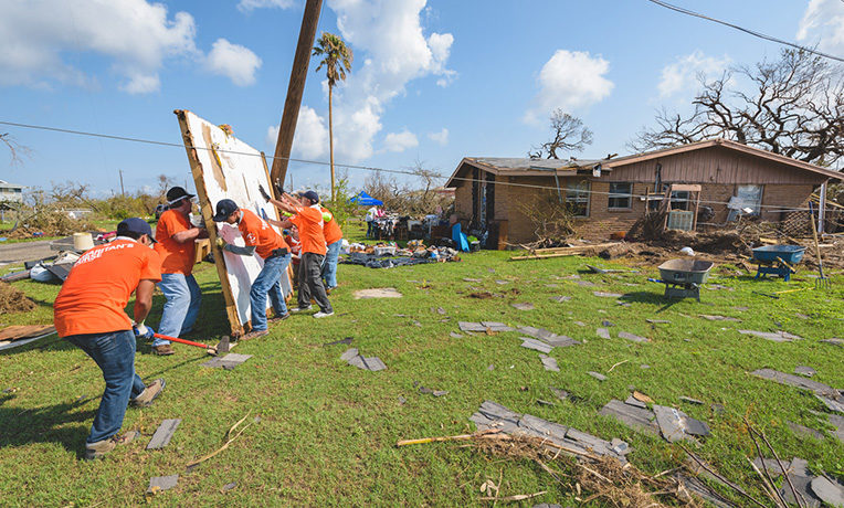 Samaritan's Purse volunteers are serving from five locations in Texas.