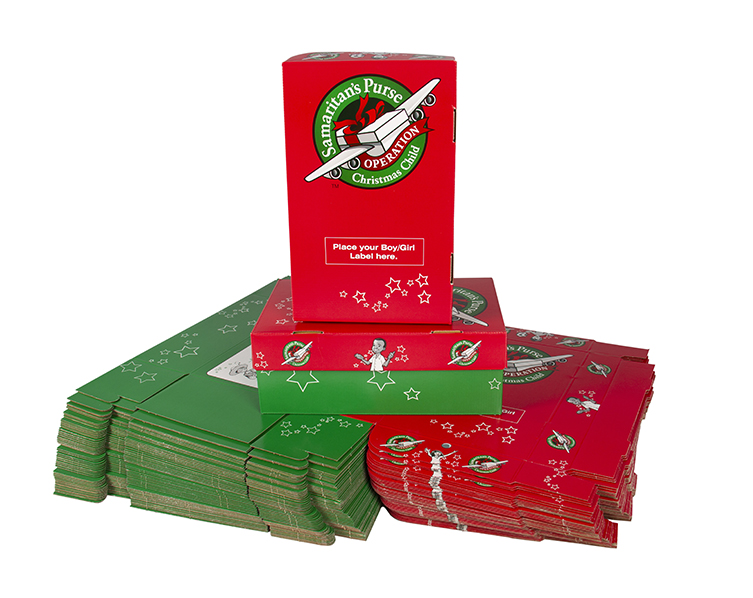 50 Pack of preprinted shoeboxes