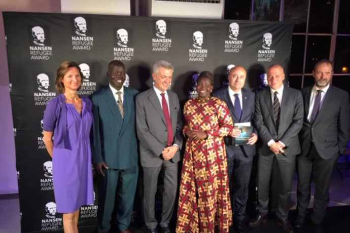 Dr. Atar, second from left, received recognition from the United Nations for his medical work in war-torn areas of Sudan and South Sudan.