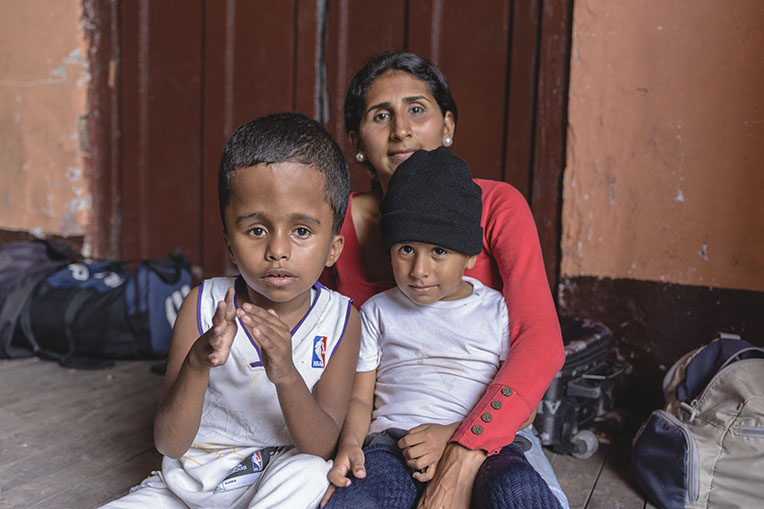 Nazareth left Venezuela to seek a better life for her two boys. The economy and health system there are in disarray.