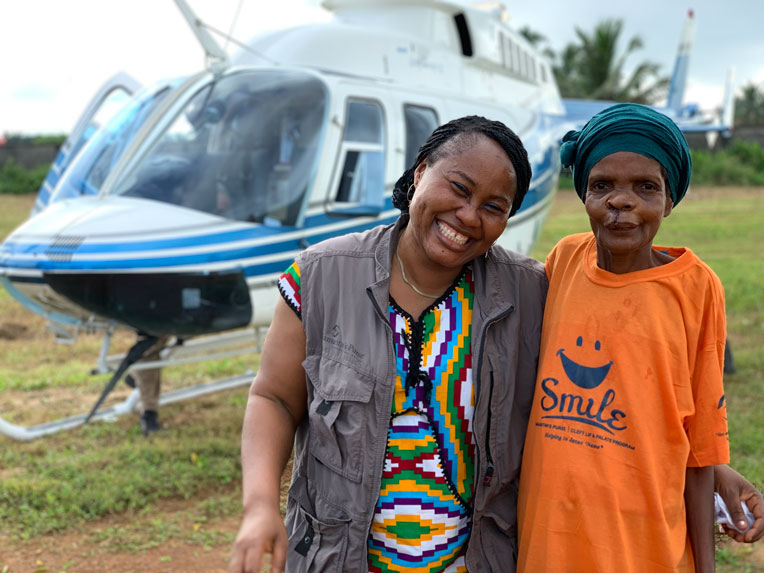 Friends join Secoh as she returns to her village after surgery.