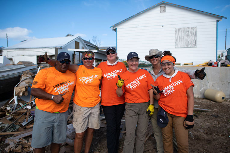 Our volunteers are helping homeowners on Man-O-War Cay.