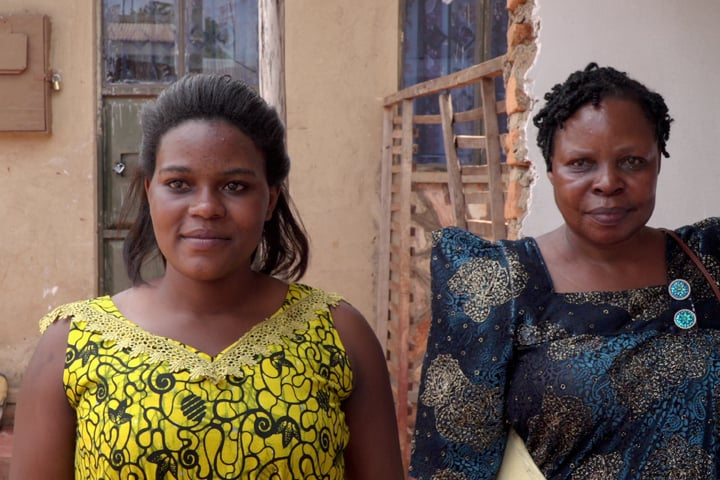 Florence (left) with Mary Zema (right), the founding director of Sanyuka.