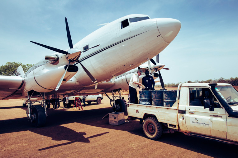 We used our DC-3 aircraft to carry relief supplies as well as medical equipment and personnel to South Sudan.