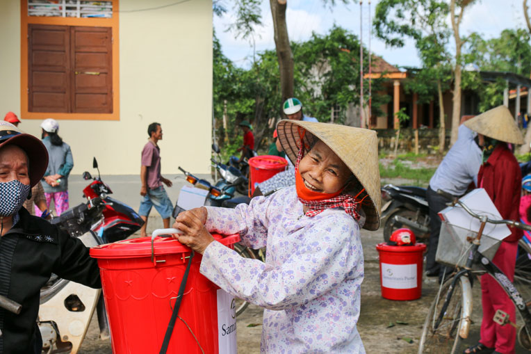 Vietnamese families are thankful for the help they've been given.