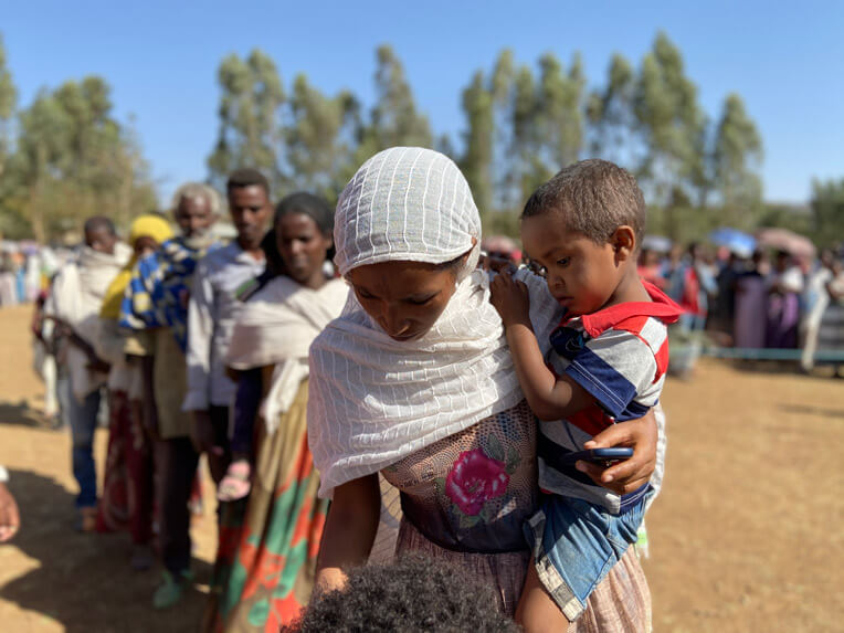 Thousands of displaced families continue to arrive in the Tigray region of Ethiopia