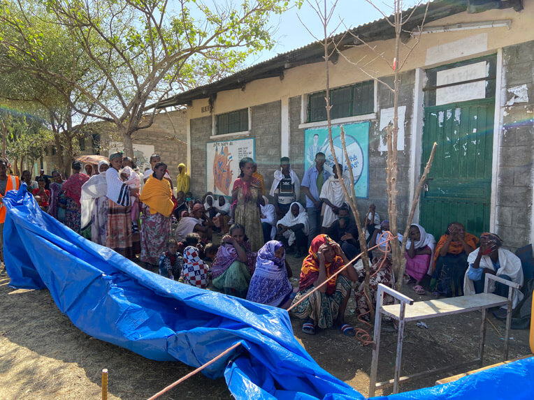 Hospitals in Tigray have been largely incapacitated in recent months, leaving displaced families without adequate medical care.