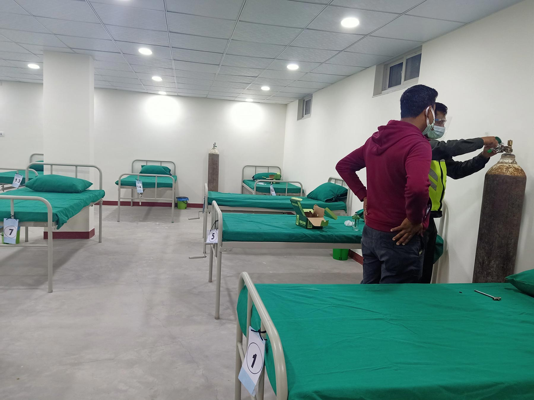 May 9th- Preparing the isolation centre for its first patients